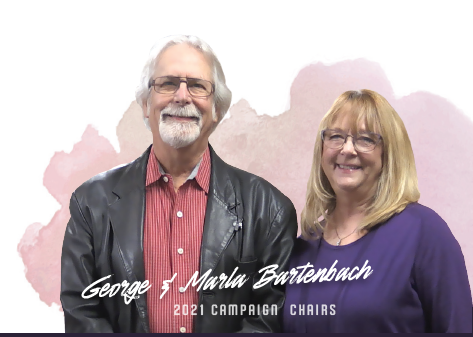 Bart and Marla Bartenbach stand poised and ready to chair our 2021 Annual Fund Drive.